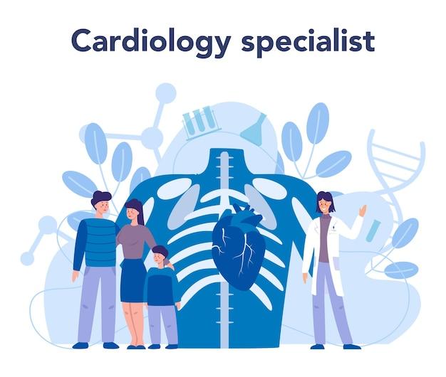 Un médecin en cardiologie effectue un diagnostic et un traitement de la cardiopathie congénitale