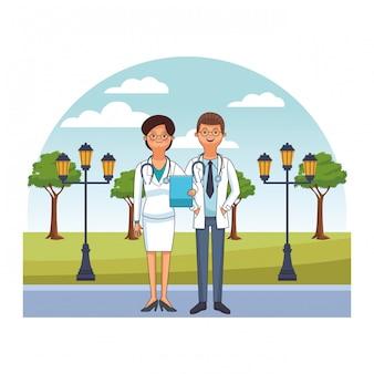 Médecin couple avatar