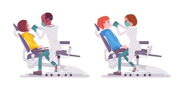 Médecin dentiste homme et femme