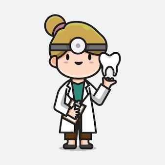 Médecin dentiste mignon
