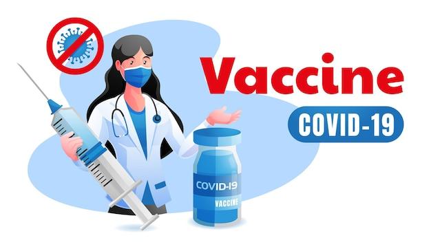 Médecin a donné le vaccin contre le coronavirus covid19