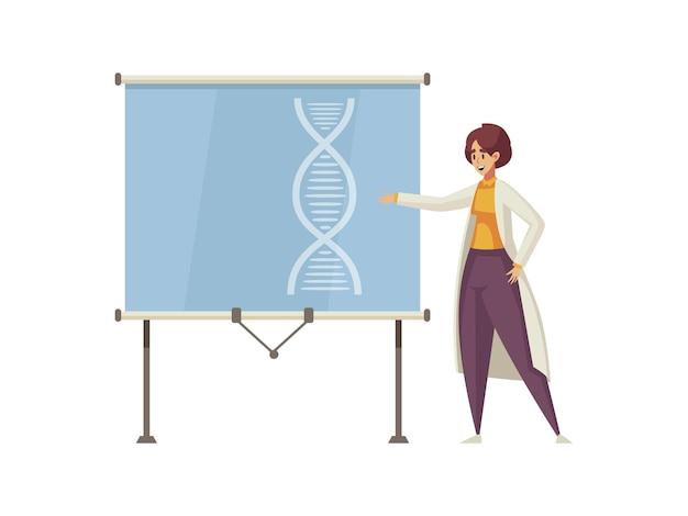 Médecin effectuant un discours lors de la caricature de la conférence médicale