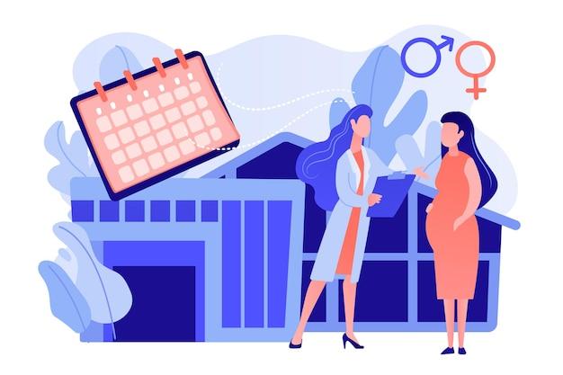 Le médecin fournit des services de santé à la femme enceinte et pendant le travail