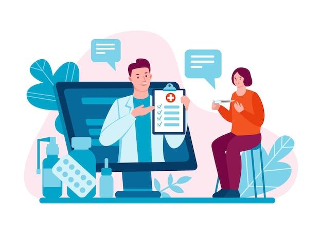Médecin internet télémédecine consultation des médecins via internet avec un médecin