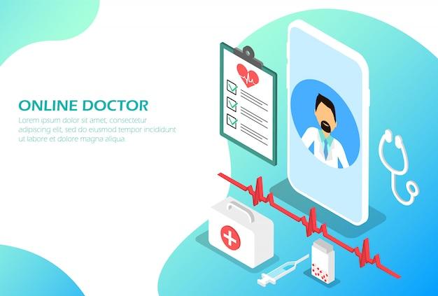 Médecin en ligne. médecine isométrique en ligne.