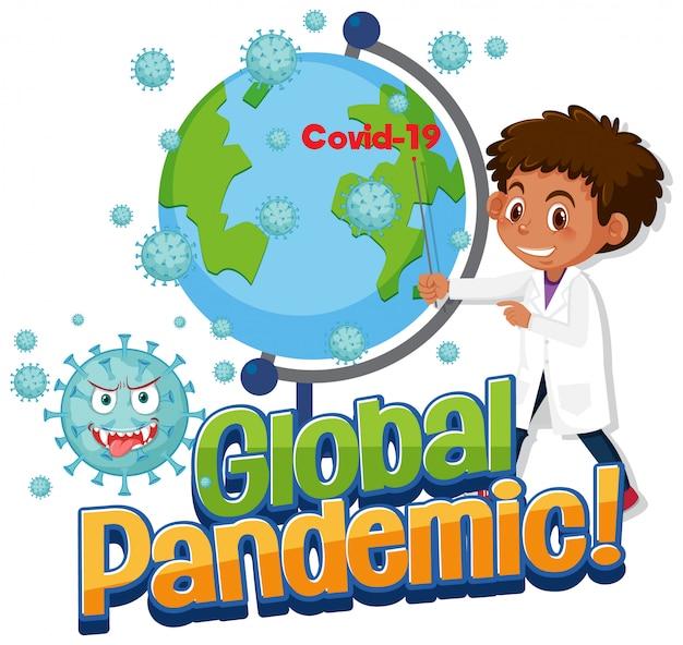 Un médecin montre la pandémie mondiale de covid-19