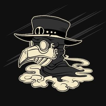 Médecin peste en masque de couronne personnage d'halloween