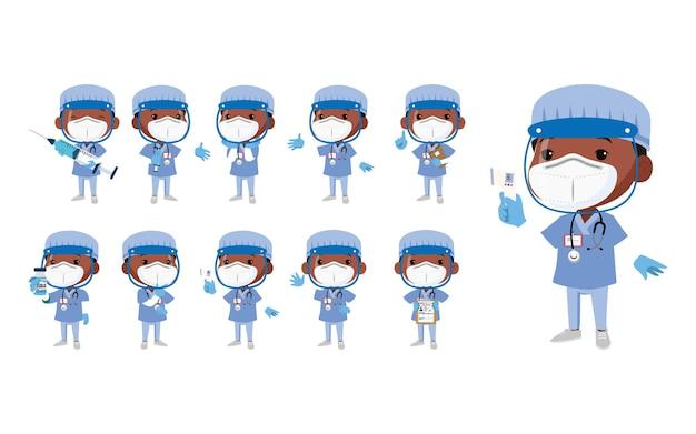 Médecin portant une suite de protection pour lutter contre le coronavirus