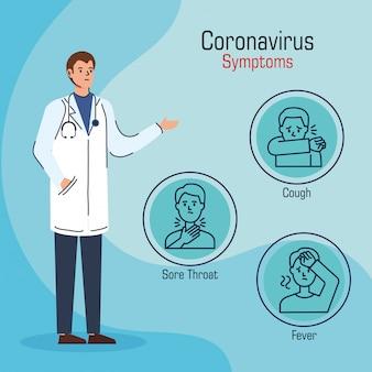 Médecin présentant des symptômes de coronavirus 2019 ncov