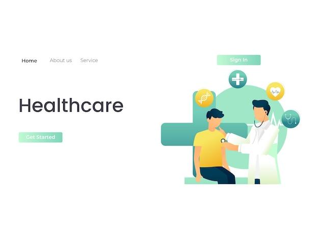 Un médecin qui examine un patient