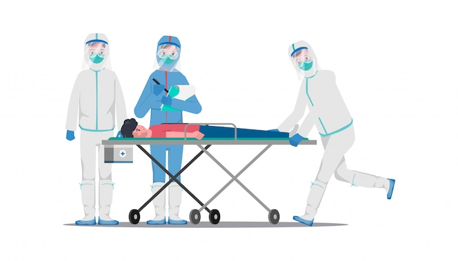 Médecin qui sauve les patients d'une épidémie de coronavirus et combat le covid-19.