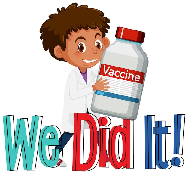 Un médecin tenant une bouteille de vaccin covid-19