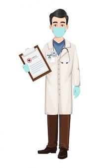 Médecin travaillant pendant une épidémie de coronavirus