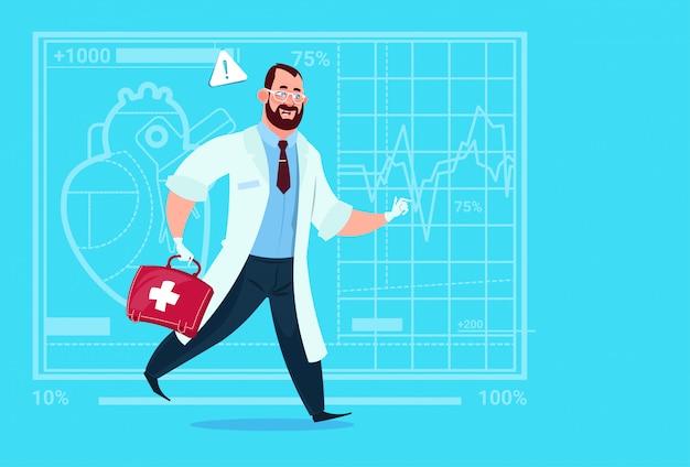 Médecin d'urgence avec hôpital pour ouvriers des cliniques médicales de premiers secours