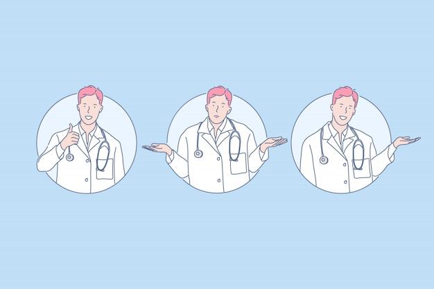 Médecine, diagnostic, concept de recommandation de médecin