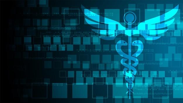 Médecine géométrique abstraite en forme de croix médicale et science concept médecine de fond médical
