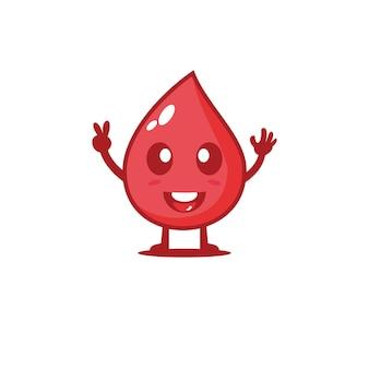 Médecine mignonne d'illustration de conception de caractère de vecteur de groupe sanguin
