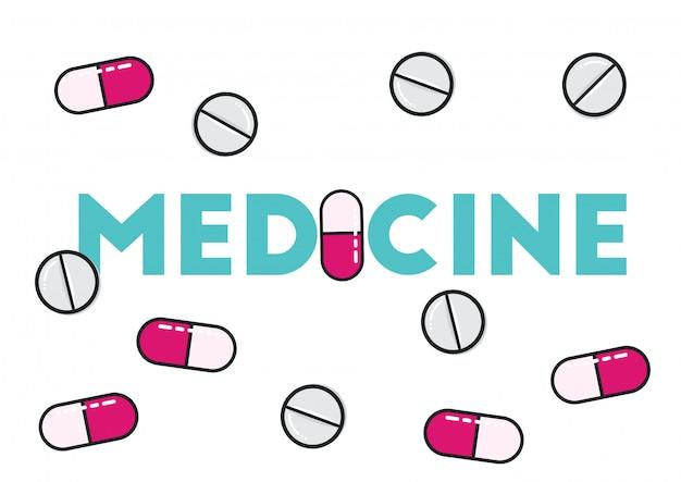 Médecine pilules illustration vecteur de soins de santé