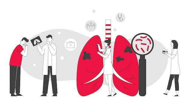 Médecine respiratoire, concept de soins de pneumologie.