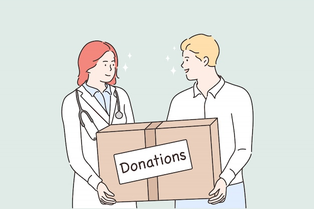 Médecine, santé, soutien, concept de don