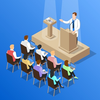 Médecins conférence débat composition