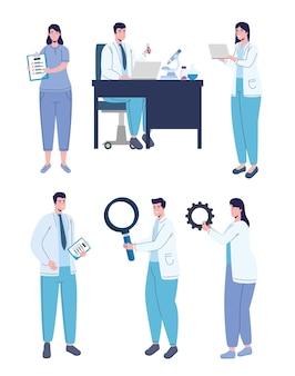 Médecins avec des éléments