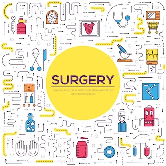 Médecins faisant le concept de contour de chirurgie