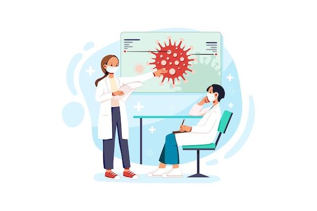 Les médecins font des recherches sur les vaccins corona