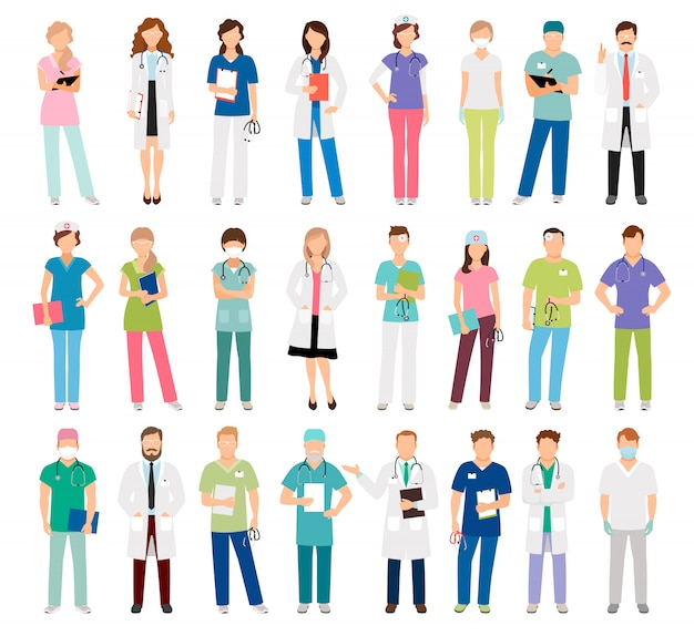 Médecins et infirmières de sexe féminin et masculin