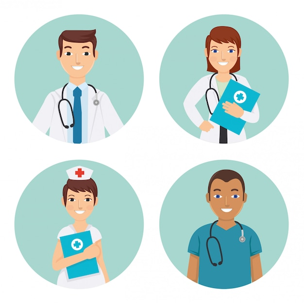 Médecins et infirmiers à l'hôpital