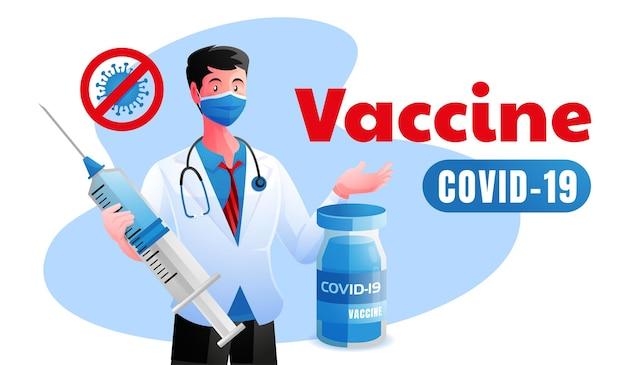Les médecins offrent une protection avec le vaccin covid 19