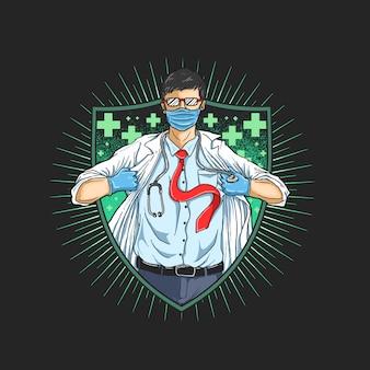 Les médecins sont nos aides en cas d'illustration malade