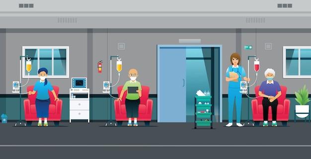 Les médecins vérifient l'exactitude de l'administration de médicaments chimiothérapeutiques aux patients