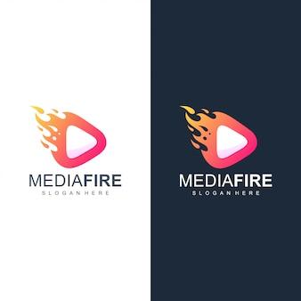 Media fire logo