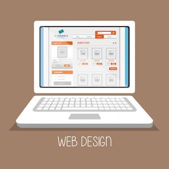 Médias en ligne de conception web