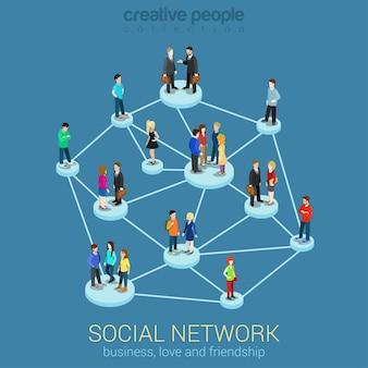 Médias de réseau social global personnes communication partage d'informations
