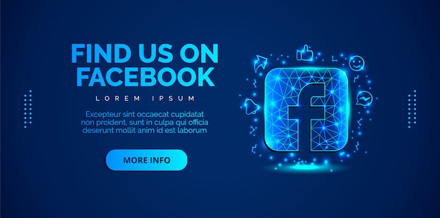 Les médias sociaux facebook avec fond bleu.