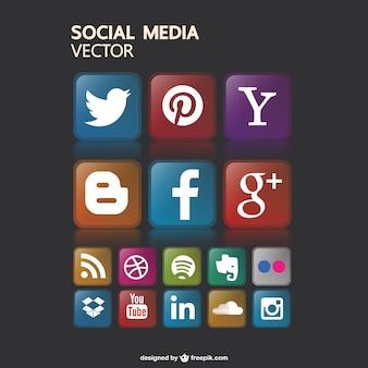 Les médias sociaux sans icônes gaphics