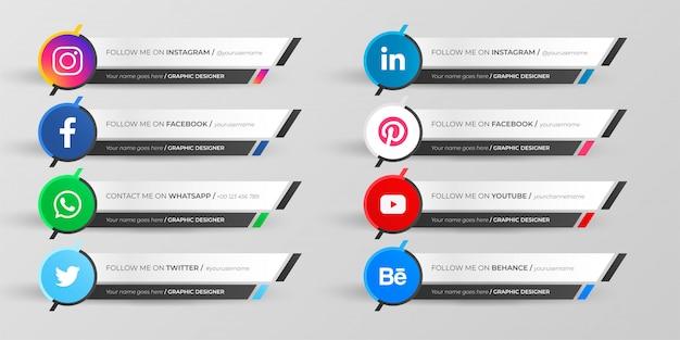 Médias sociaux tiers inférieur collection
