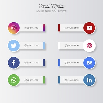 Médias sociaux tiers inférieurs