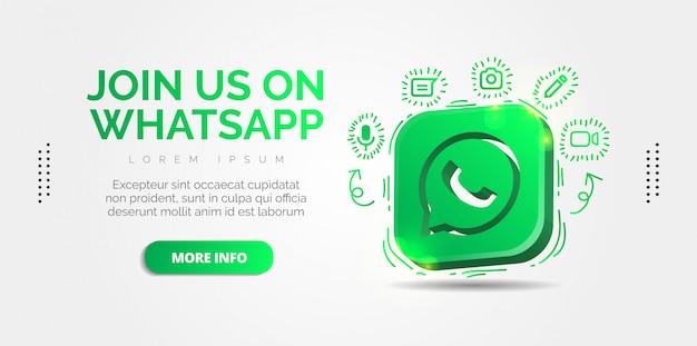 Médias sociaux whatsapp avec des designs colorés.