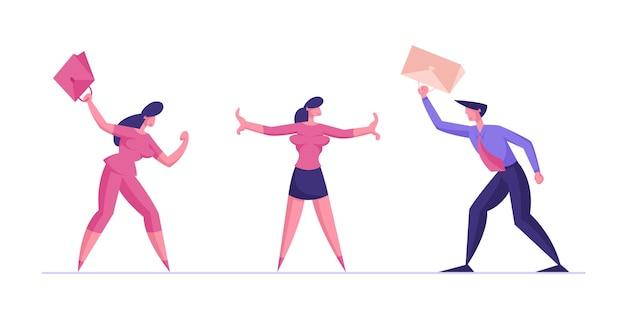 Mediator girl empêche la bataille de l'homme d'affaires