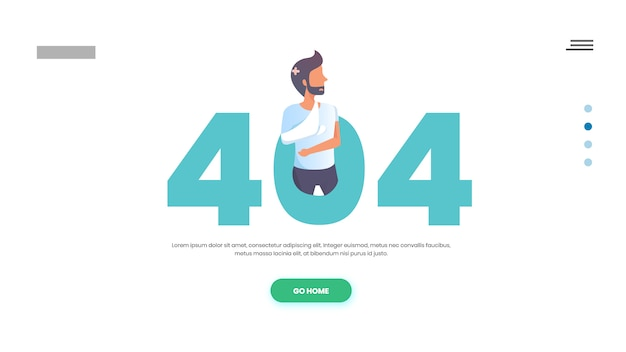 Medical 404 page web