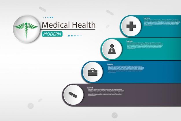 Medical sur fond d'infographie en papier