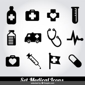Medical icons fixés