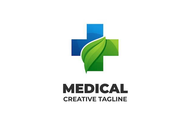 Médical pharmaceutique nature herbal business logo
