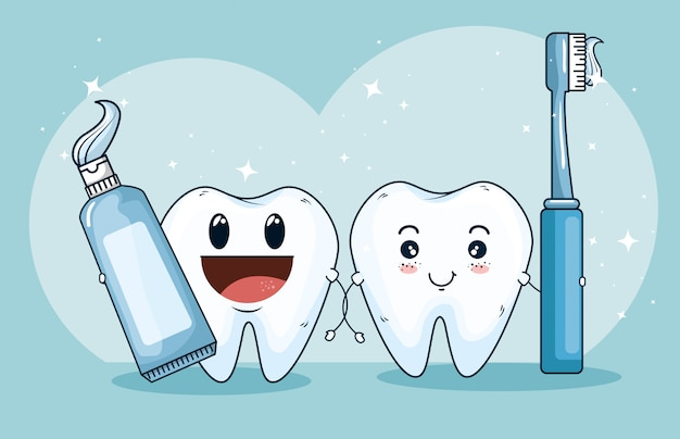 Médicament de traitement des dents avec un dentifrice et une brosse à dents