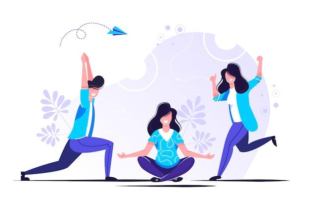 De méditation pendant les heures de travail