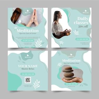 Méditation et pleine conscience instagram posts