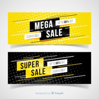 Mega concept de bannières de vente